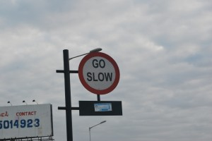 An irrelevant sign for the bikers