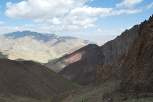 Multi-colored mountains
