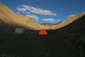 As seen from the camp