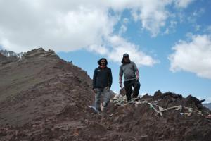 With Sherpa Ongda at Stok La