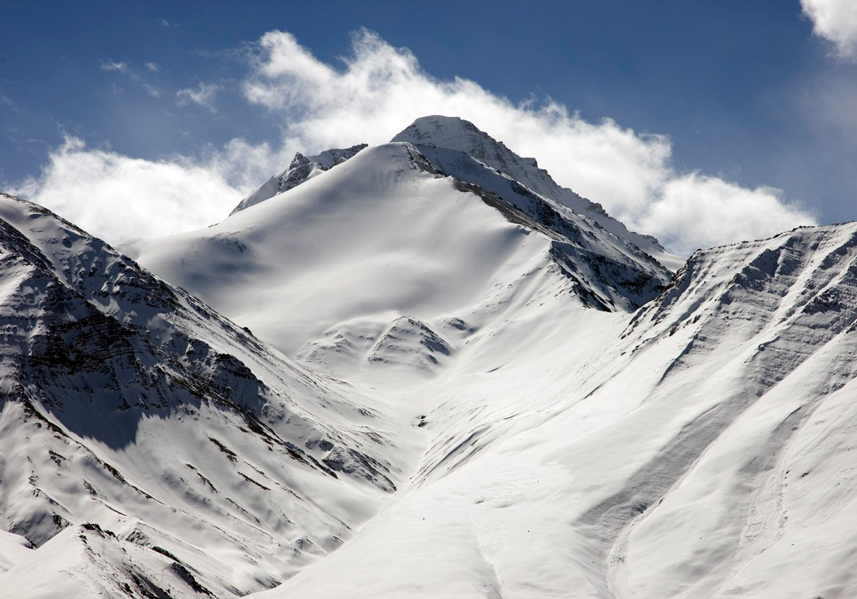 Snow laden Stok Kangri
