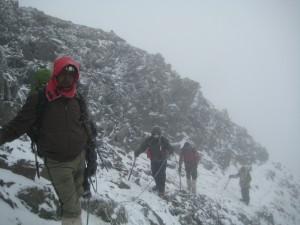 Tough climb on the ridge