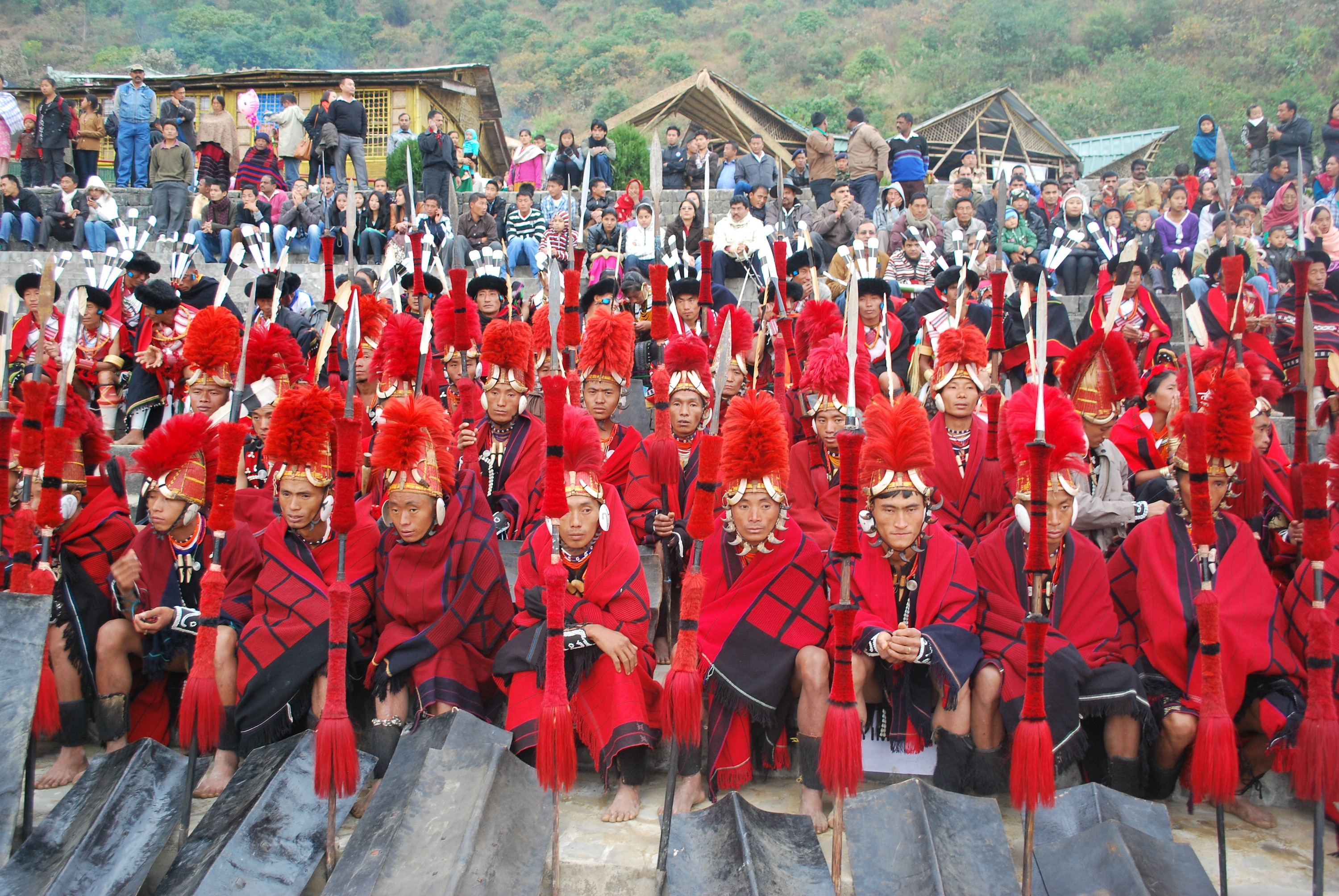 Naga Warriors at Hornbill Festival