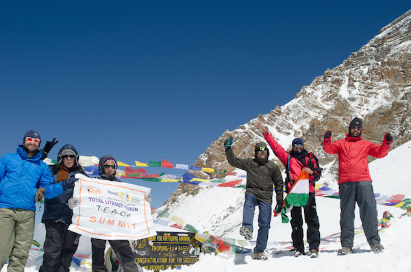 On top of Thorung La Pass