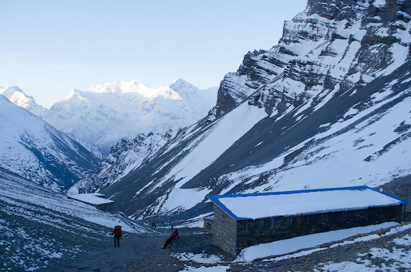 View from High Camp at Thorung Pedi