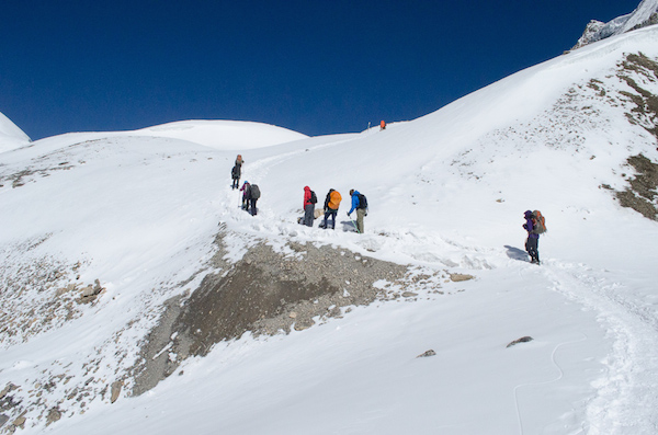 Trudging towards Thorung La