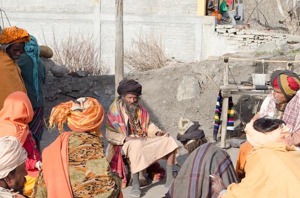 Sadhus in Muktinath