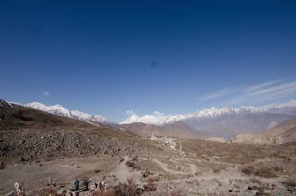 The road from Muktinath