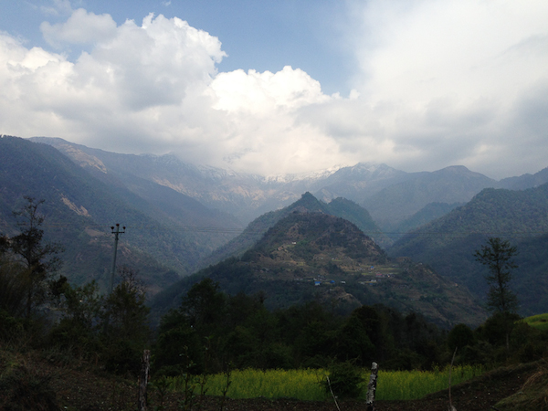 The view along the way towards Ghorepani