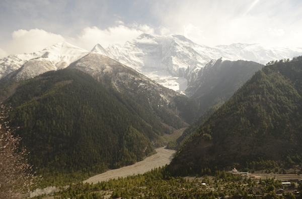 Annapurna Range as seen from Monastery in Upper Pisang