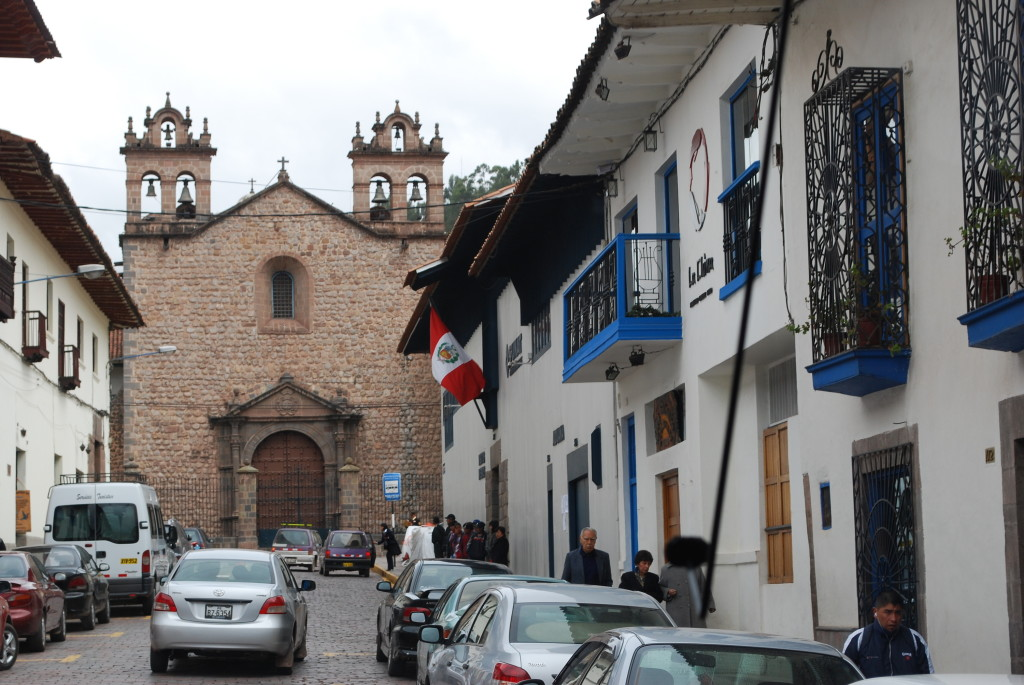 Houses with Beautiful Balconies in Cuzco
