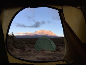 Tent with a view to Kilimanjaro