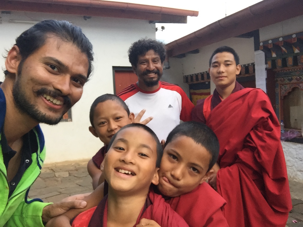 Chimi Langkha with the Monks