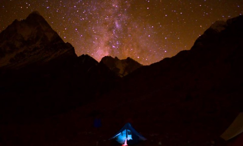 Milky Way at Meru Base Camp_Rustik Travel