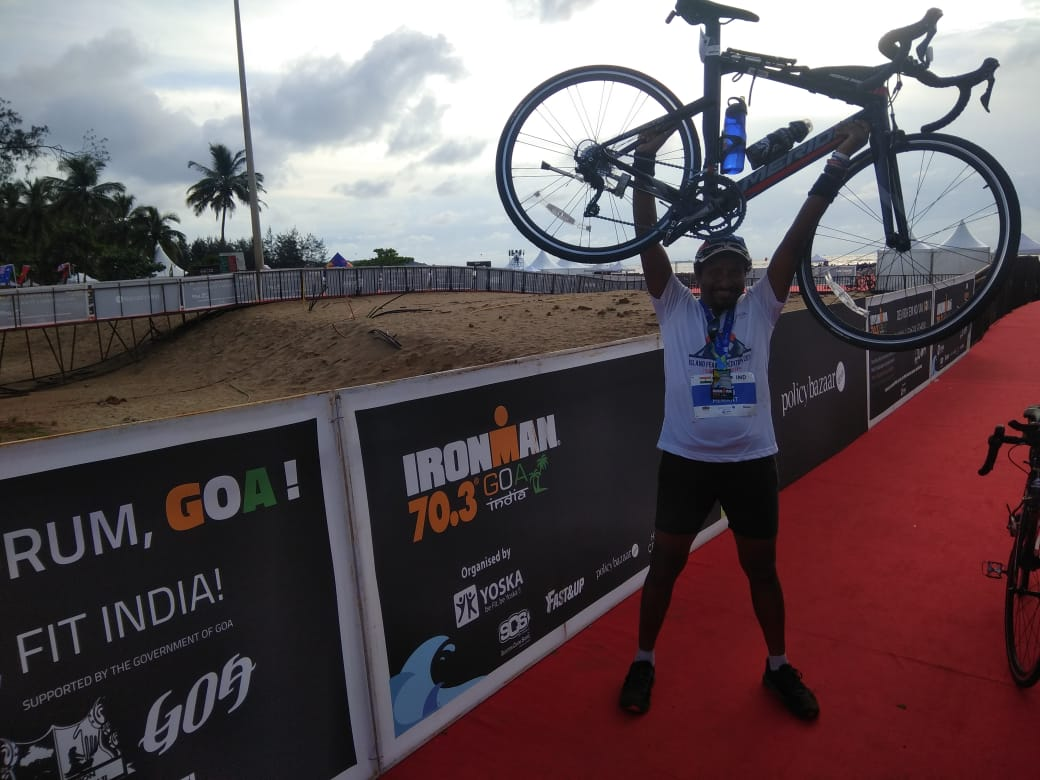 With the bike_Goa Ironman