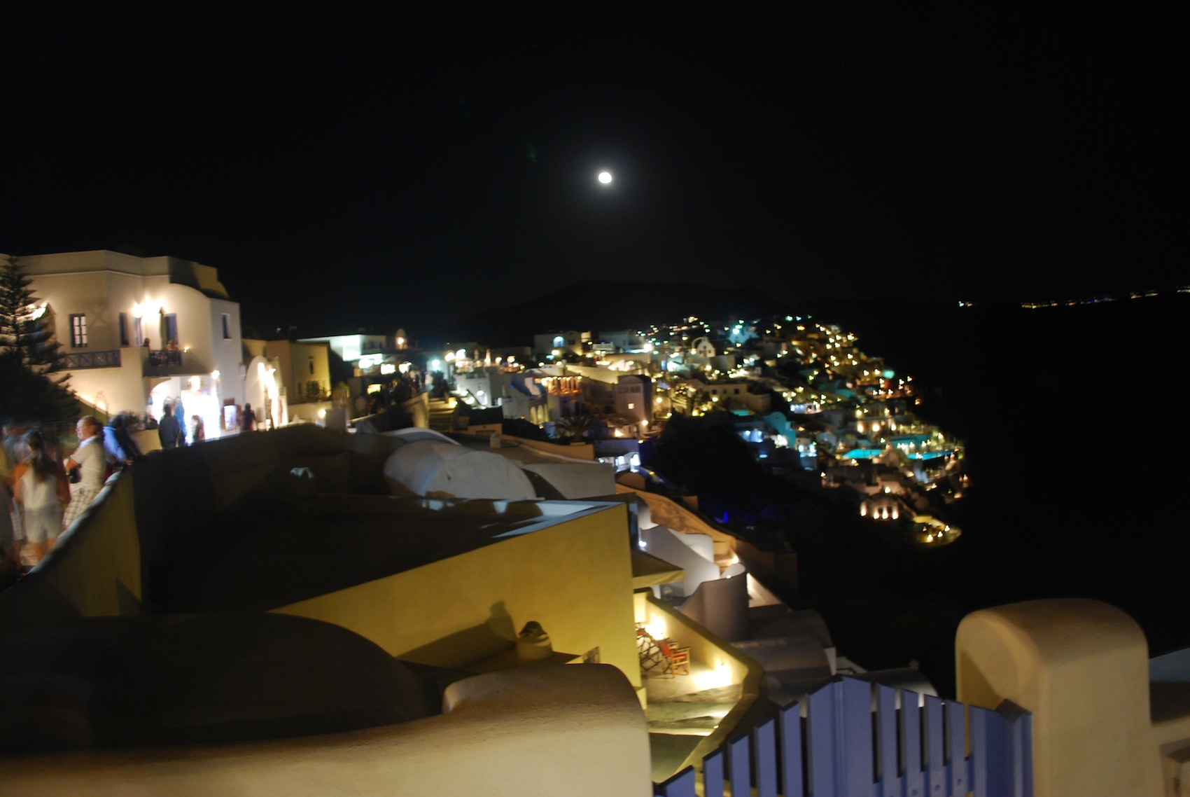 Oia in the night