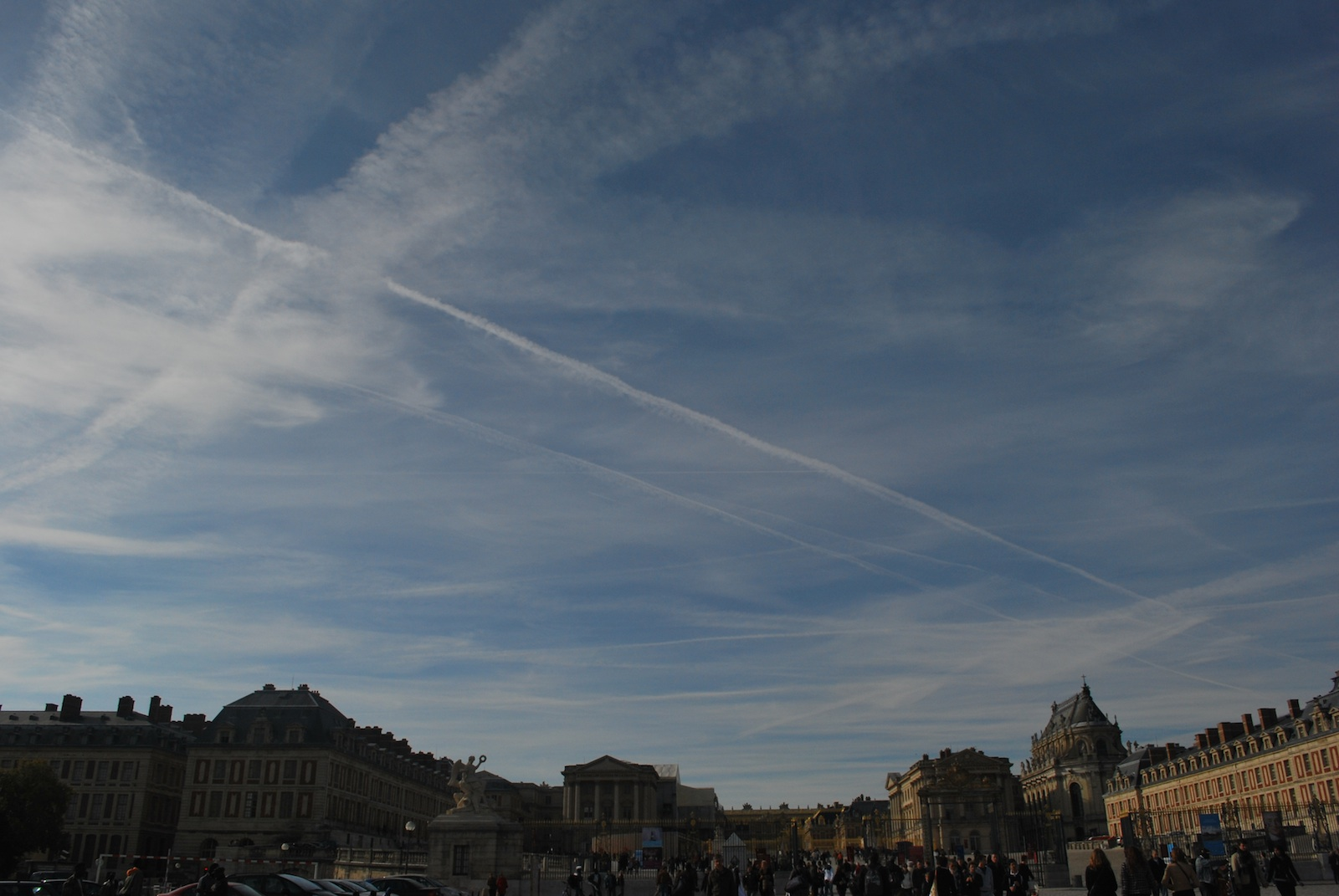 Over Palace of Versailles