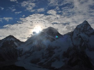 Sunrise on Mt. Everest