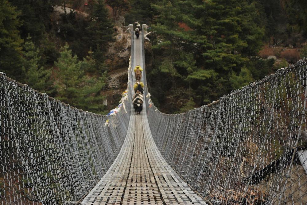 The bridge over Dudh Kosi