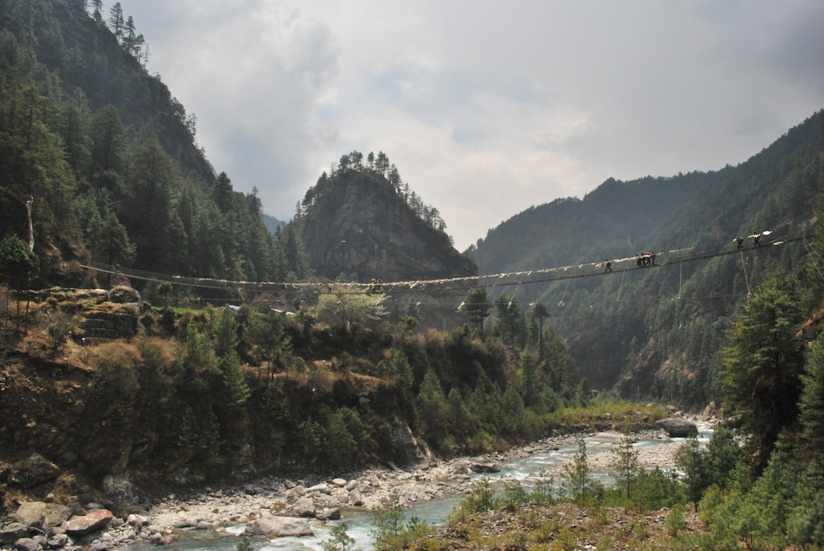 Over Dudh Kosi river