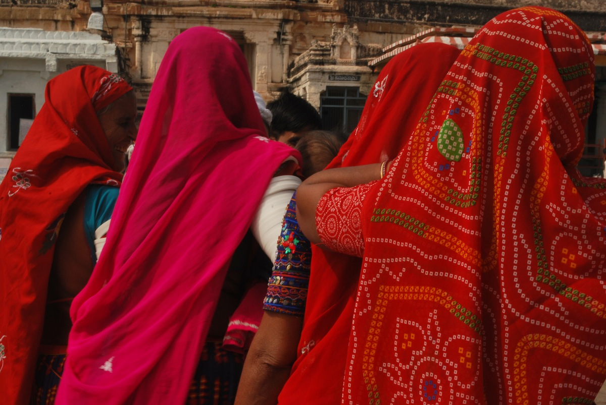 Women from Rajasthan, always adding color