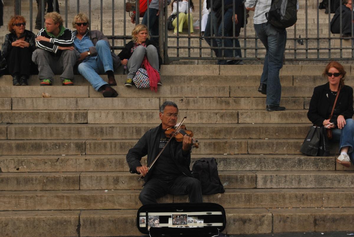 Lone violinist