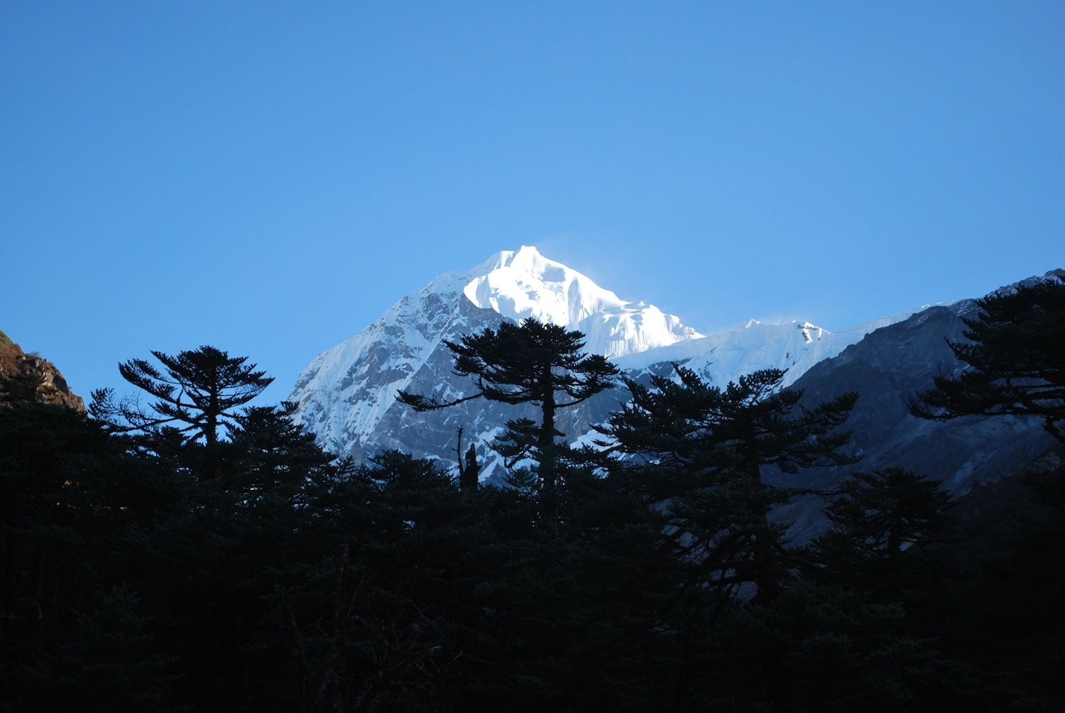 One of the five peaks of Kanchenjunga