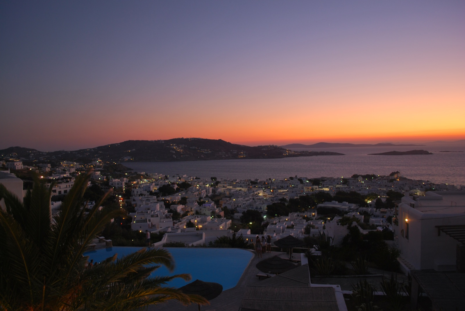 Just after the sunset  in Mykonos