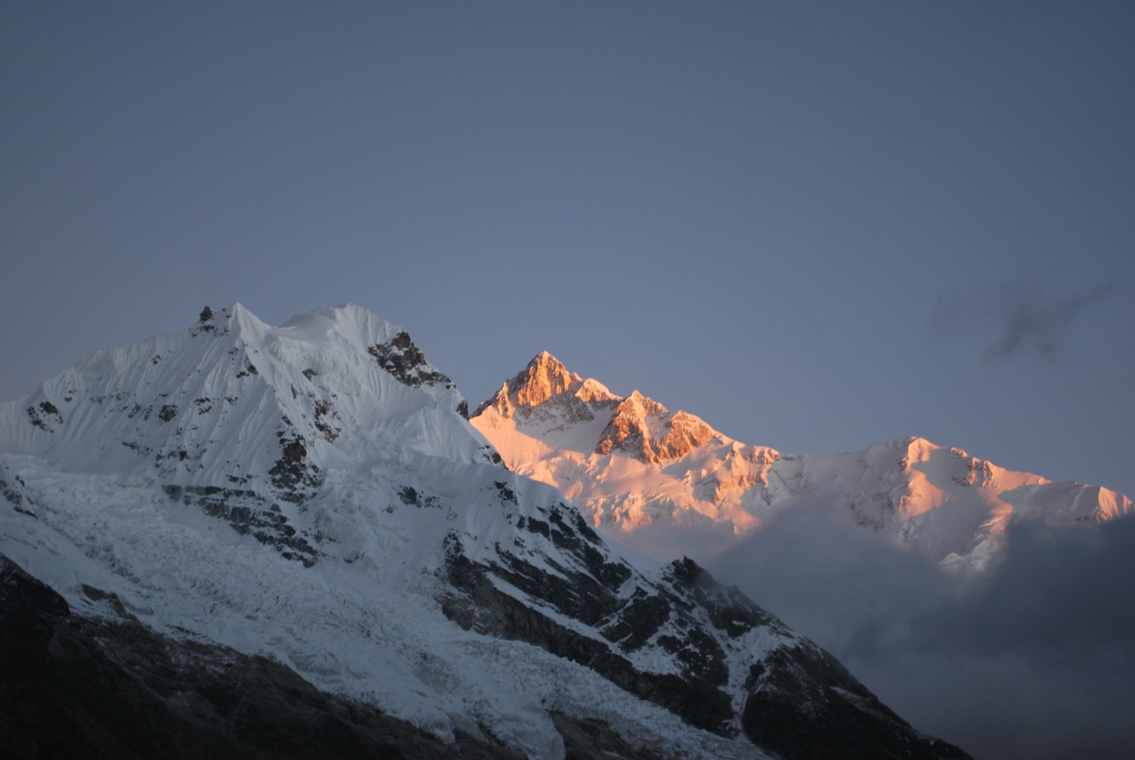 Kanchenjunga in the morning Sun