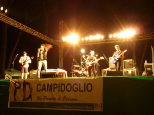 Local Roman band performing at a park near Circus Maximus