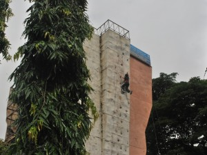 Wall Climbing at Kanteerava Stadium