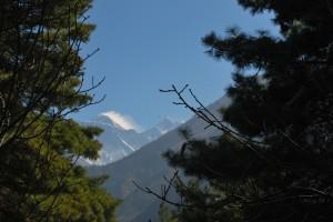 Everest Peak from somehwere near Namche