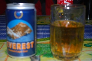 Everest Beer...you can't get higher than this