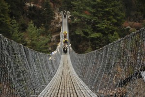 The bridge over Dudh Kosi