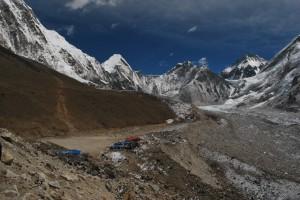 Khumbu Glacier on the right