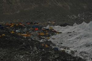 Everest Base Camp on the Edge of Khumbu Icefall