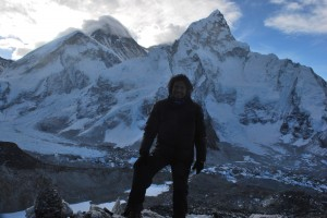 On top of Kalapathar with Mt. Everest behind