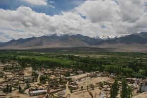 Leh and Stok Range as seen from Leh Palace