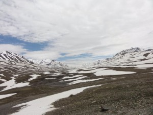 One of the many surreal landscapes on Manali-Leh route
