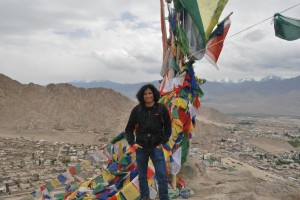 Me at Leh Palace with the Stok Range behind