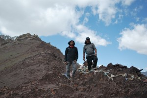 With Sherpa Ongda at Stok La