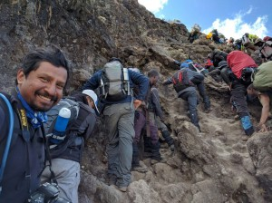 Climbing the Baranco Wall